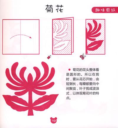 六瓣雪花花纹的剪纸图片