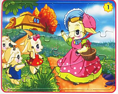 儿童画动物小羊