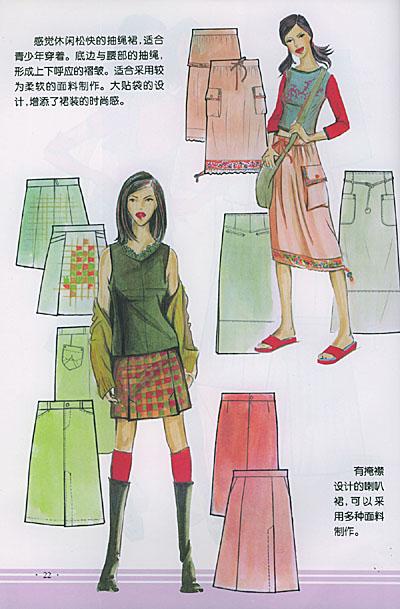 高級服裝設計師蔣金銳女士及其學生呂云,鄭惠群編著的《裙子設計與