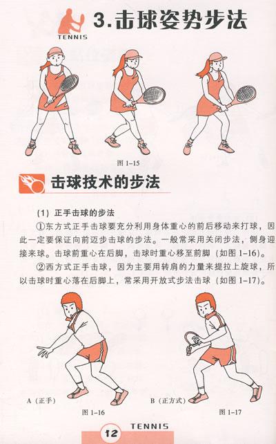 发球   发球基本动作   (1)准备   (2)抛球   (3)发球步骤   (4)挥拍