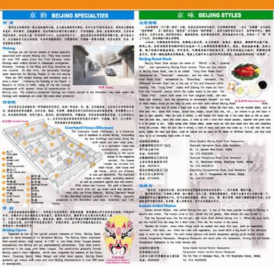 北京地图4合1:城区地图+中心城区图+郊区旅游交通图