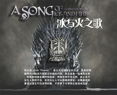 冰与火之歌卷权力的游戏徽章全三个心树铁王座及图片