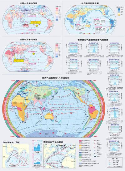 世界7月海平面气压和风分布图  22.图片
