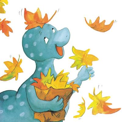 系列图画书的主人公是小恐龙幼儿园里一群可爱的小