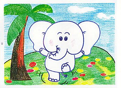 蜡笔画abc(动物画法)——儿童美术技法入门丛书