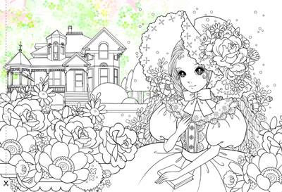 简易手绘公主图